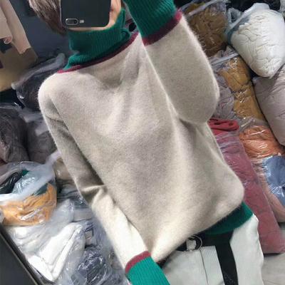 【品牌返场】慵懒风高领套头加厚针织衫毛衣女宽松【最后282件】