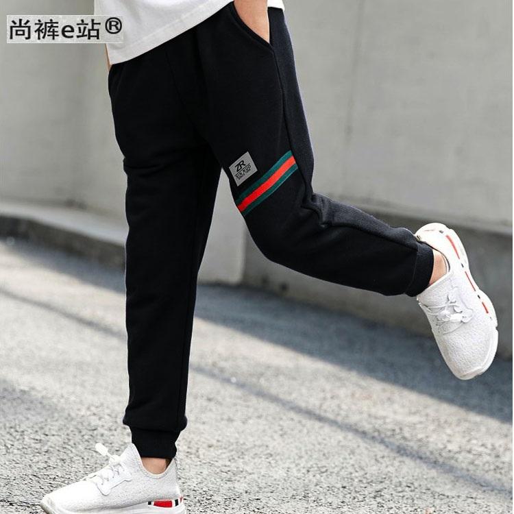 儿童休闲纯棉加绒加厚运动长裤