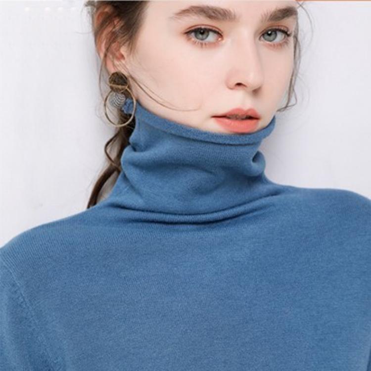 2019新款羊绒堆堆高领毛衣女套头内搭打底针织衫宽松长袖秋冬纯色