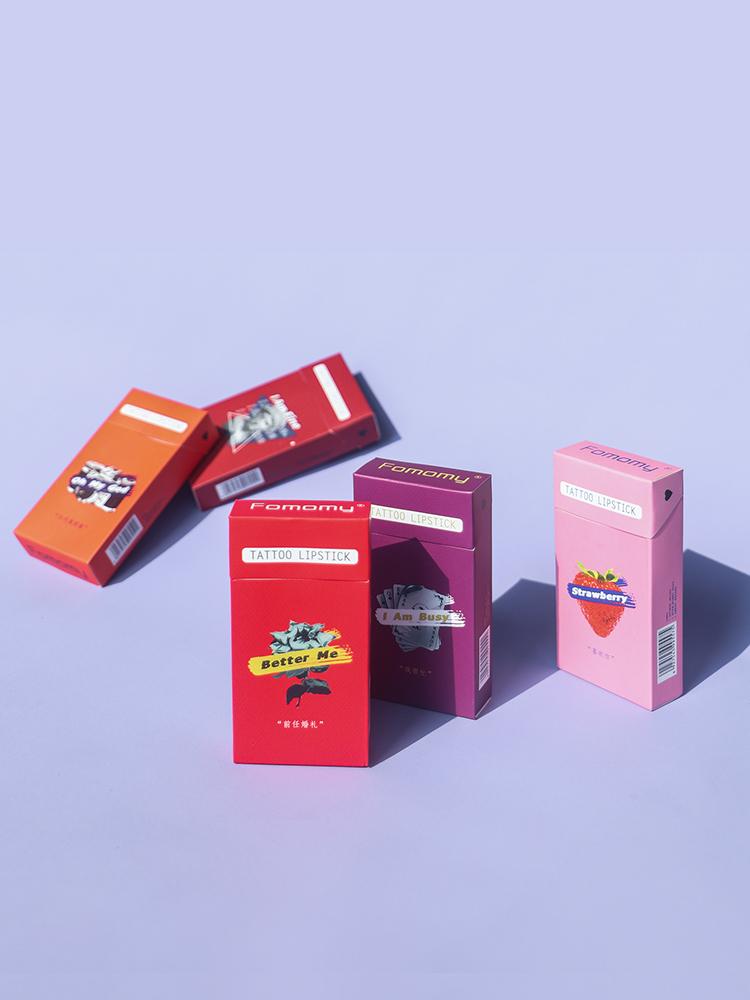 Fomomy浮气玩味烟盒棉签唇釉液滋润持久不易脱色不易沾杯学生平价