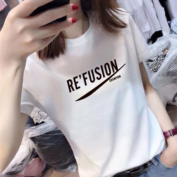 宽松白色短袖t恤女打底衫上衣