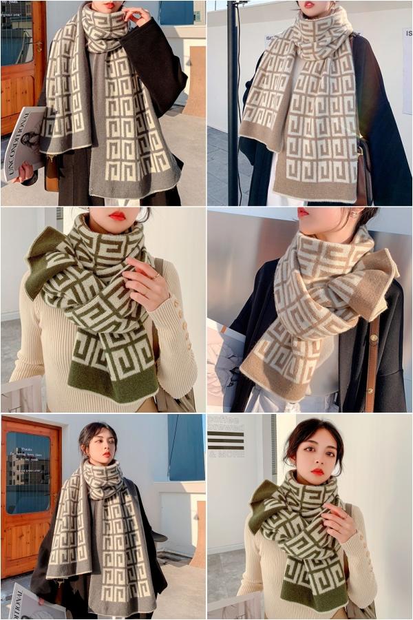 冬款围巾女冬季百搭围脖韩版保暖可爱少女学生洋气时尚