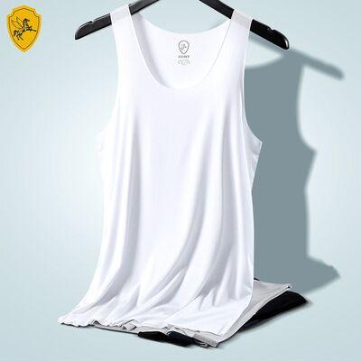 飞云骑士男士无痕背心莫代尔棉修身透气打底青年运动跨栏汗衫夏季