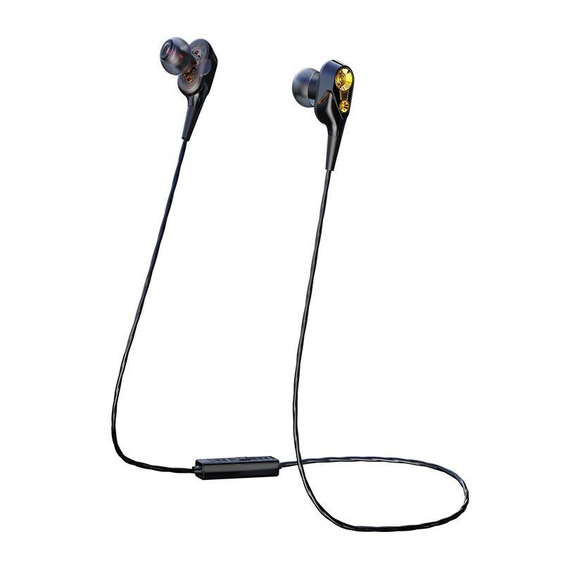 【4个喇叭】双动圈无线蓝牙耳机双耳运动跑步5.0入耳颈挂脖式适用小米iphone华为vivo安卓oppo通用型挂耳男女