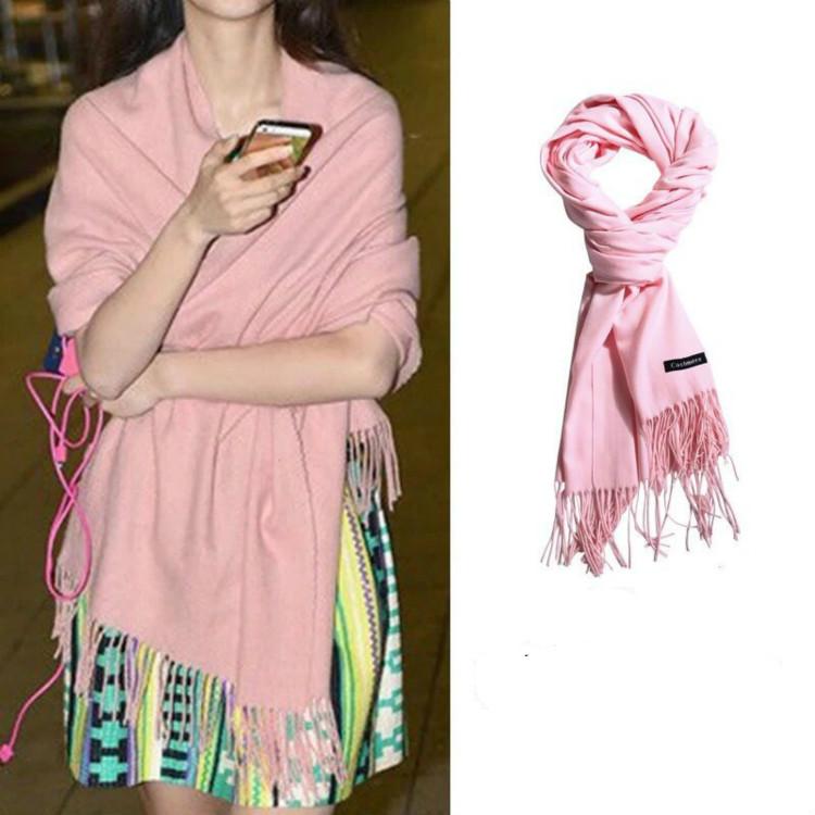 【入秋必备】新款长款大围巾100%柔软长款简约围脖毛线保暖加厚