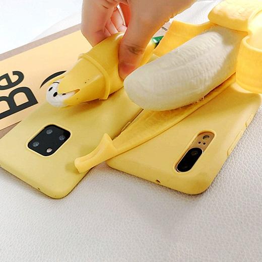 立体香蕉11pro减压可捏8plus7p苹果x解压iphoneXsmax手机壳xr/6sp