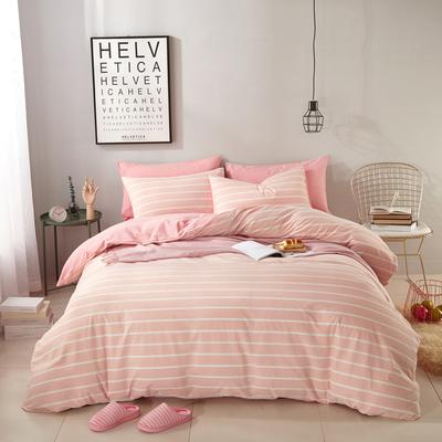 无印纯棉水洗棉四件套床上用品2.0床四件套全棉超柔裸睡床单被套