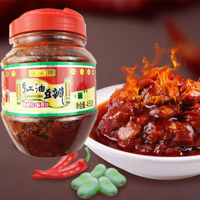 老陈都豆瓣酱正宗四川红油豆瓣酱家用炒菜调料小瓶装辣椒酱450g