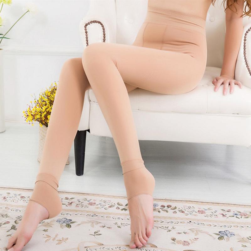 光腿肉色打底裤女外穿超自然裸感神器连袜棉裤加绒加厚保暖秋冬季