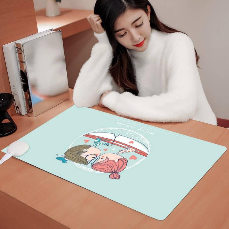 暖桌垫学生暖手发热保暖办公室电脑桌面鼠垫标电热板写字加热